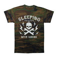 Sleeping With Sirens Men's  Skull T-shirt Multi Rockabilia