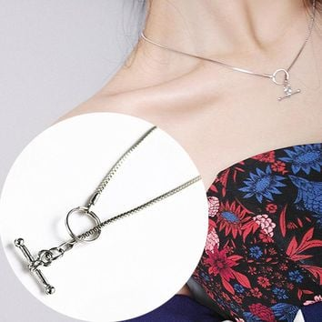 N234 Clavicle Choker Necklaces For Women Adjustable Steampunk Colar Statement Necklace Geometric Collares Bijoux