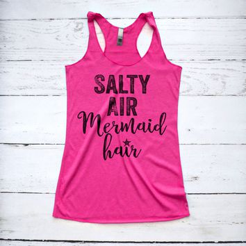 Salty Air Mermaid Hair Tank Top