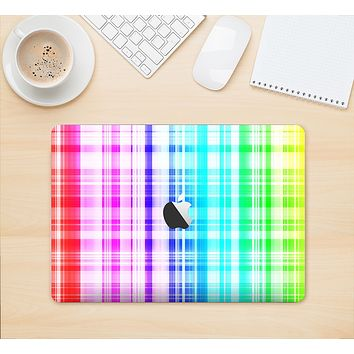"The Bright Rainbow Plaid Pattern Skin Kit for the 12"" Apple MacBook"