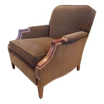Pre-owned Vintage 1930's Velvet Club Chair