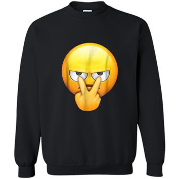 I'm Watching You Funny Halloween Emoji Halloween Printed Crewneck Pullover Sweatshirt