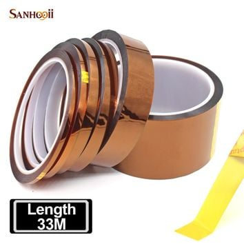 SANHOOII Length 33m No Residual SMT PCB Board Protection High Temperature Heat Resistant Polyimide Adhesive Insulation Tape