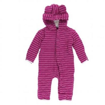 Kickee Pants Tokyo Collection Print Quilted Hoodie Coverall with Sherpa Lined Hood