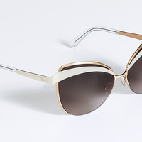 'DIOR EYES 1' SUNGLASSES GOLD, IVORY