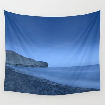 """Blue Hour At Half Moon Beach"" Wall Tapestry by Guido Montañés"