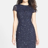 Women's Adrianna Papell Sequin Mesh Sheath Dress,