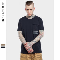 Summer Fashion High Street T-Shirt Men's Longshirt Streetwear Tshirt Hip Hop Clothing Men Tops Tee