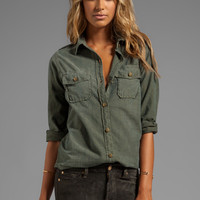 Current/Elliott The Perfect Shirt in Army Green from REVOLVEclothing.com