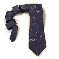 E=MC2 Tie, Physics tie, Math tie, Einstein Equation, Science tie, teacher tie, math accessory, math formula, math equation, necktie