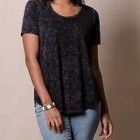 Mineral Wash Hi-Low Tee - Small Only
