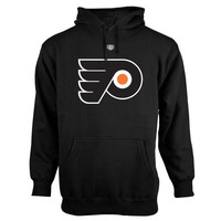 Philadelphia Flyers Old Time Hockey Big Logo with Crest Pullover Hoodie – Black