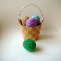 Crochet Easter Eggs set of 4 vintage colors by sabahnur on Etsy