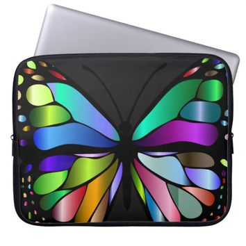 Colorful Mosaic Butterfly Computer Sleeve
