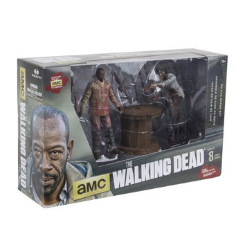 Walking Dead TV Series #8 Figurines - Deluxe Box - Morgan with Impaled Walker and Spike Trap