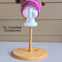 Hat Stand - Display Stand - Styrofoam Display - styrofoam head - Styrofoam - Wood Stand - Hat Stand - Wig Display - Wig Stand - Craft Shows