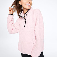 Sherpa Quarter-Zip - PINK - Victoria's Secret