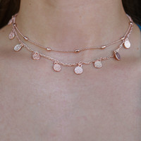 Sweet Stroll Necklace - Rose Gold
