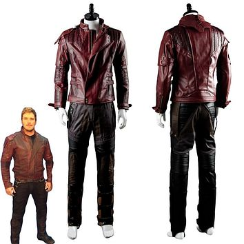 Guardians of the Galaxy Cosplay costume Halloween costumes for adult Star Lord Cosplay costume Star Lord Jacket Pleather Suit