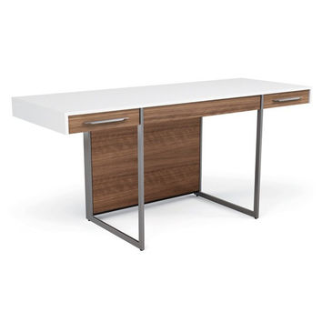 Two-Tone White Wood Fiber Desk by BDI