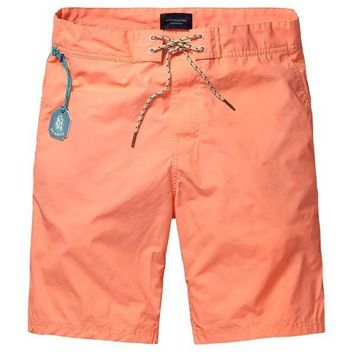 Coral Surfer Swim Shorts