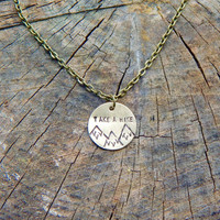 Take A Hike Mountain Landscape Necklace