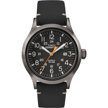 Timex Expedition Metal Scout - Black Leather/Black Dial
