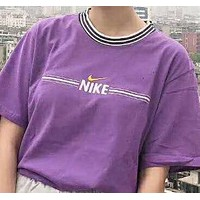 Nike trend sells short sleeves in pure color embroidery N-AG-CLWM