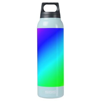 Colorful Diagonal Stripes – 1 16 Oz Insulated SIGG Thermos Water Bottle