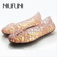 Women's Sandals 2015 New Summer Women Shoes Casual Jelly Tenis Feminino Mesh Flats Sandalias Femininas Fashion Women Sandals