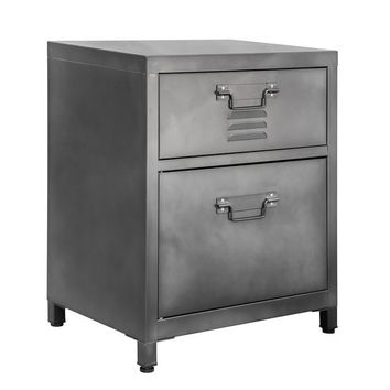 2-Drawer Steel Locker Style Nightstand | Overstock.com Shopping - The Best Deals on Nightstands