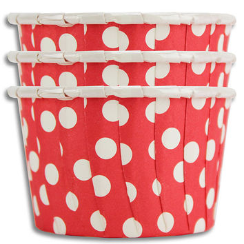 Red Polka Dot Nut Cups