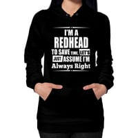 Apparels redheads Hoodie (on woman)