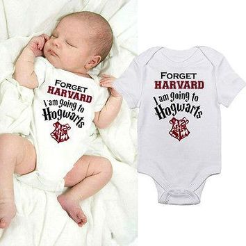 2017 Hot Sale Newborn Infant Kids Baby Boy Girl Clothes Summer Cotton Short Sleeve Harry Potter Letter Romper Jumpsuit Clothes