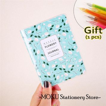 2018 Agenda Planner Monthly + Weekly Portable A6 Calendar Notebook Cute Diary Flowery Lovely School Supplies Chancery
