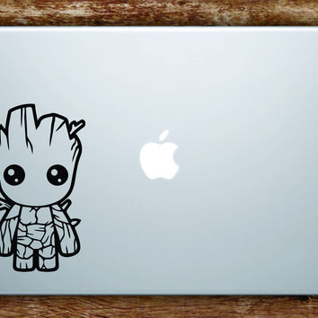 Baby Groot Laptop Apple Macbook Quote Wall Decal Sticker Art Vinyl Movies Guardians of the Galaxy Cute