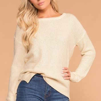 Leanne Ivory Knit Sweater