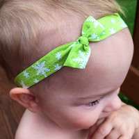 Christmas headband, Christmas bow headband set, baby headband set, christmas gift, baby shower gift, red headband, green headband
