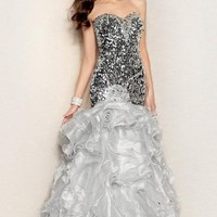 Strapless Organza Dress by Alyce Prom