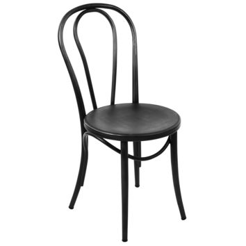 Thonet Style Retro Bentwood Steel Side Chair (Set of 2)