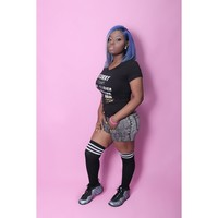 Precious-Multi Color Blue Lili's Touch Custom Made Lace Frontal Wig