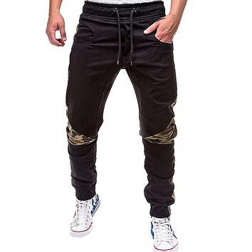 Spring Summer Men's Pants Casual Elastic Waist Slim fit Long Trousers Fashion Male Sweatpants Cargos Joggers W311