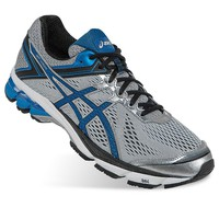 ASICS GT-1000 4 Men's Wide-Width Running Shoes (Grey)