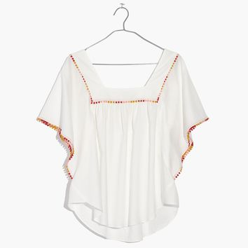 Pom-Pom Butterfly Top : shopmadewell tops & blouses | Madewell