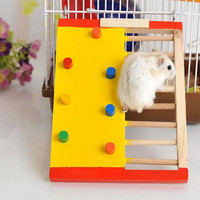 Natural Wooden Hamster Climbing Ladder Hamster Accessories Hamster Climbling Toy Small Pet Funning Accessories 18 x 13.7 x 2cm