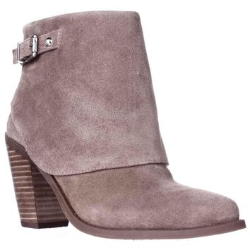 Jessica Simpson Caralyne Ankle Cuff Block Heel Booties, Totally Taupe, 6 US / 36 EU