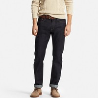 Men's Selvedge Regular Fit Jeans | UNIQLO