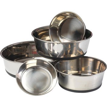 House Of Paws Stainless Steel Dog Bowl With Silicon Base (m)