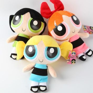 Free shipping  20 cm The Powerpuff Girls Plush Doll Bubbles Blossom Buttercup Stuffed Toys for christmas gift