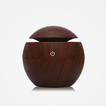 Awesome Aromatherapy Wood Essential Oil Diffuser Aroma with Lamp 7 Color Changing LED Lights Child Friendly